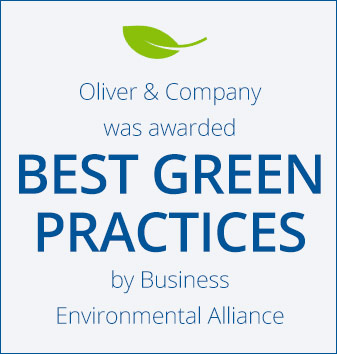 Oliver and Company was awarded best green practices by Business Environmental Alliance